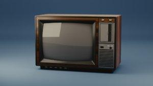 vintage old television 3D model