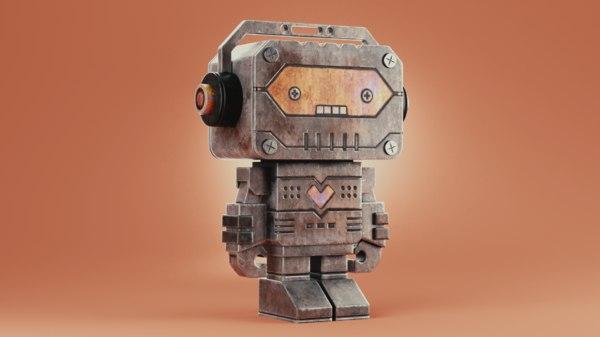 metallic robot model