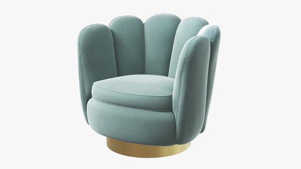 grey swivel armchair 3D model