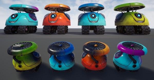 3D little borgi drone scout