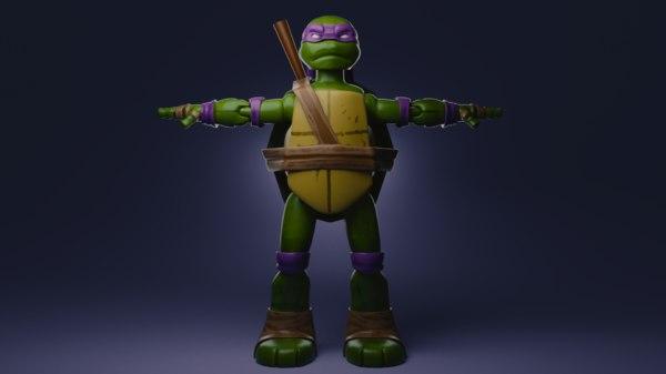 3D model ninja turtle toy