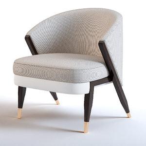 3D carmel armchair model