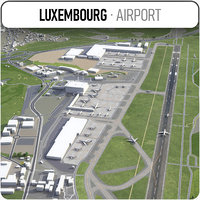 luxembourg airport - lux 3D model