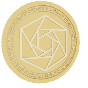 3D constellation gold coin model