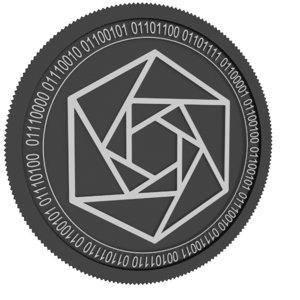constellation black coin 3D model