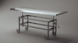 mortuary table 3D model
