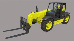 3D telescopic fork lift pbr