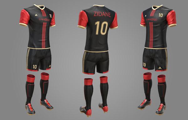 3D football soccer equipment