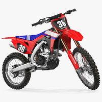 motocross bike honda crf250r 3D model