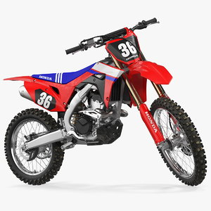 motocross bike honda crf250r 3D model
