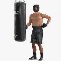3D punching bag boxer rigged