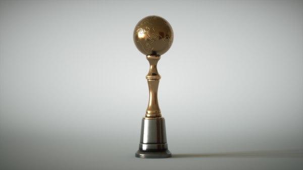 trophy metallic 3D