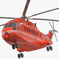 3D avicopter ac313 attack helicopter