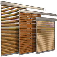 3D sliding windows doors shutter