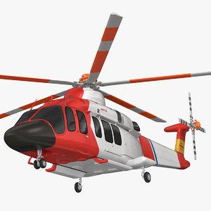 3D model bell 525 relentless paramedic