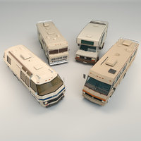 Low Poly Motorhome Pack