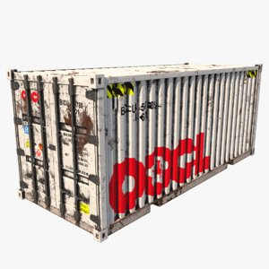 3D shipping container oocl model