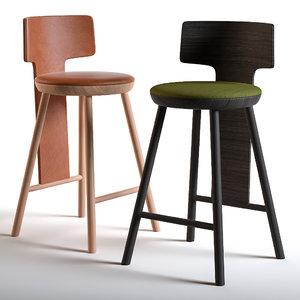 chairs pinna 3D model