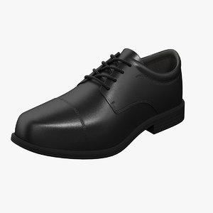 oxford shoes black 3D model