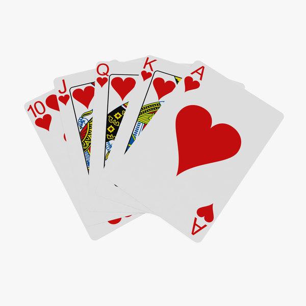 3D poker royal straight flush model