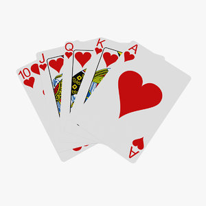 3D poker royal straight flush model