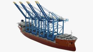 3D cargo vessel svan