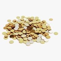 3D pile coins