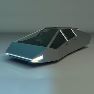 3D sci-fi car