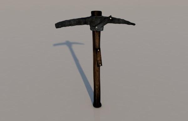 pickaxe axe pick tool 3D