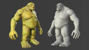 character troll body base 3D model