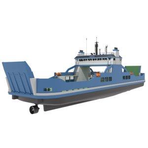 3D original car ferry model