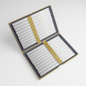 gold cigarette case model