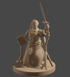 3D dnd male elf mage model