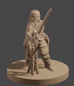 dnd dwarf 3D