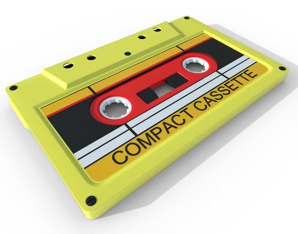 3D analog cassette tape
