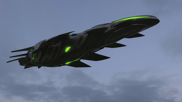 3D alien spaceship model