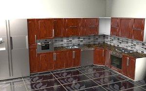 flush kitchen 3D model