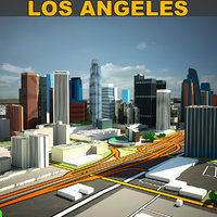 3D los angeles color