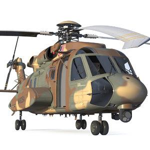 sikorsky h-92 superhawk rigged 3D model
