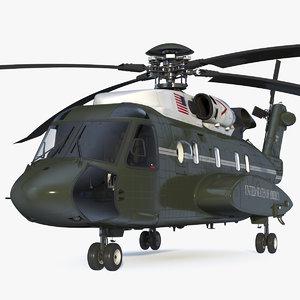 3D sikorsky vh-92 marine rigged
