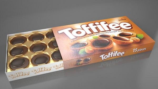 box toffifee chocolates 3D model