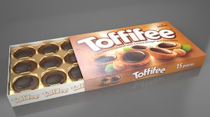 box toffifee chocolates 3D model