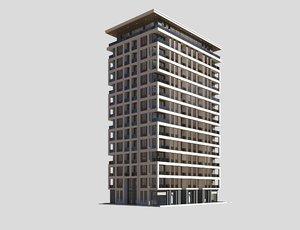 3D resort building model