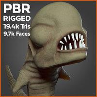 3D model animation chestburster pbr