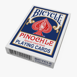 bicycle playing cards pack 3D model