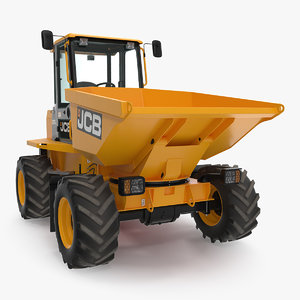 6t-1 cabbed site dumper 3D