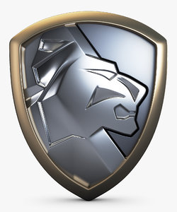 lion shield insignia 3D model