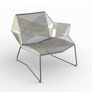3D moroso tropicalia armchair arms model