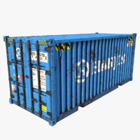 3D shipping container hanjin model