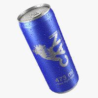 wet energetic beverage 3D model